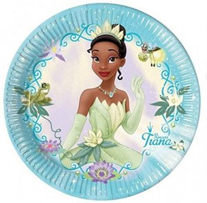 black fairy princess plate