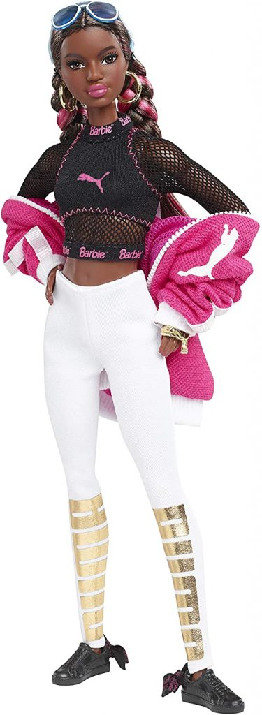 Puma Barbie with hands on hips shows off her Puma ensemble