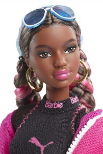 African American Barbie dressed in Puma branded