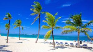 Beach scene in the Bahamas