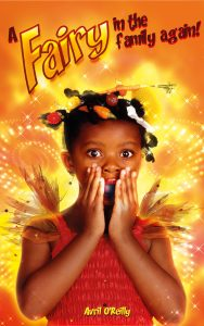 Book cover shows a black girl with wings looking shicked