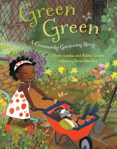 Book cover with little black girl in a garden