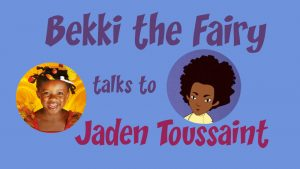 Cirles with the face of Bekki the Fairy and Jaden Toussaint