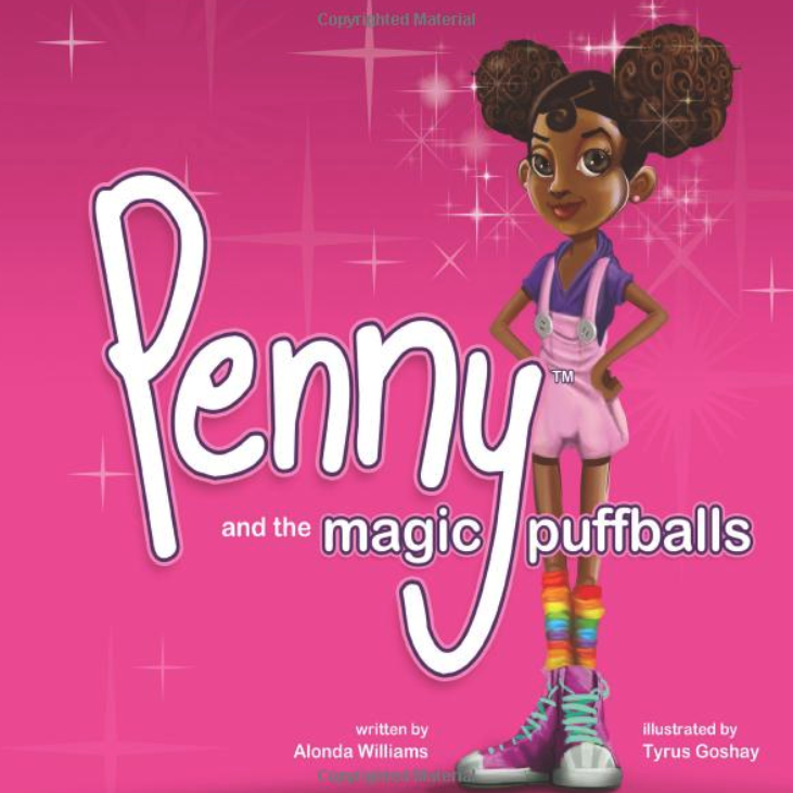 book cover showing a girl with afro puffs