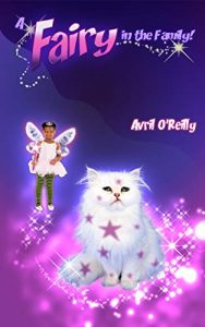A fairy does a magic spell to put spots on her cat