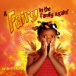Front cover of A Fairy in the Family Again shows a little girl with a shocked expression.