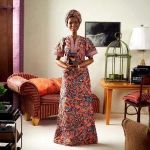 Maya Angelou doll at home circa 1971