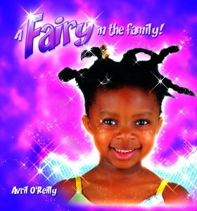 front over of A Fairy in te Family showing a smiling black girl