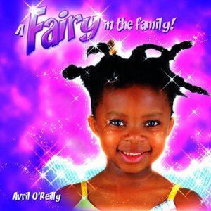 Smiling black fairy girl