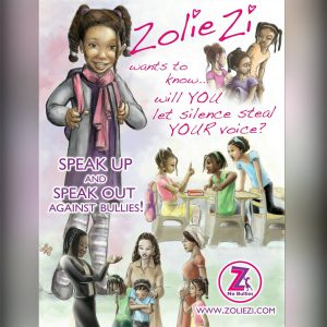A flyer for Zolie Zi's book.