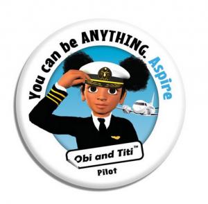 Girl in pilot uniform
