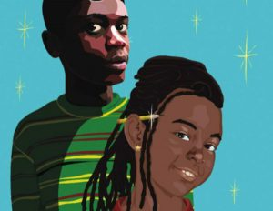 Close up of the faces of Malcolm and Nia