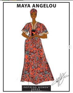 sketch of Maya Angelou Barbie
