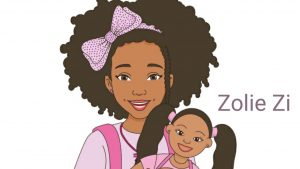 A video showing drawings of the book character Zolie Zi
