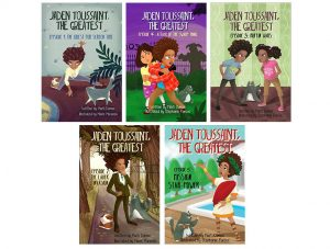 Covers of all five books about Jaden Toussaint The Greatest by Marti Dumas
