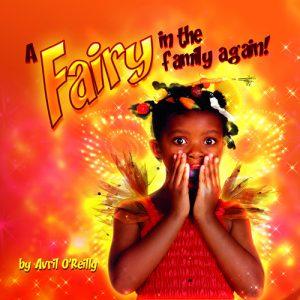 Little black girl dressed as a fairy looking shocke d