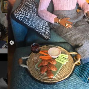 Detail of 1/6 scale food served to Maya Angelou Barbie
