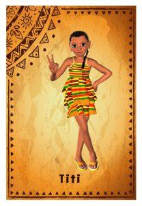 Nigerian girl in a patterned mini dress